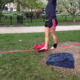 Girl in Oz Park Practicing Her Tightrope Walk. (She's in her early 20's..Soon she will find out what a tightrope our lives can be, right?!)